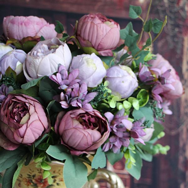Artificial peony silk flowers bridal bouquet hydrangea garden decor artificial peony silk flowers bridal bouquet hydrangea garden decor diy ebay mightylinksfo