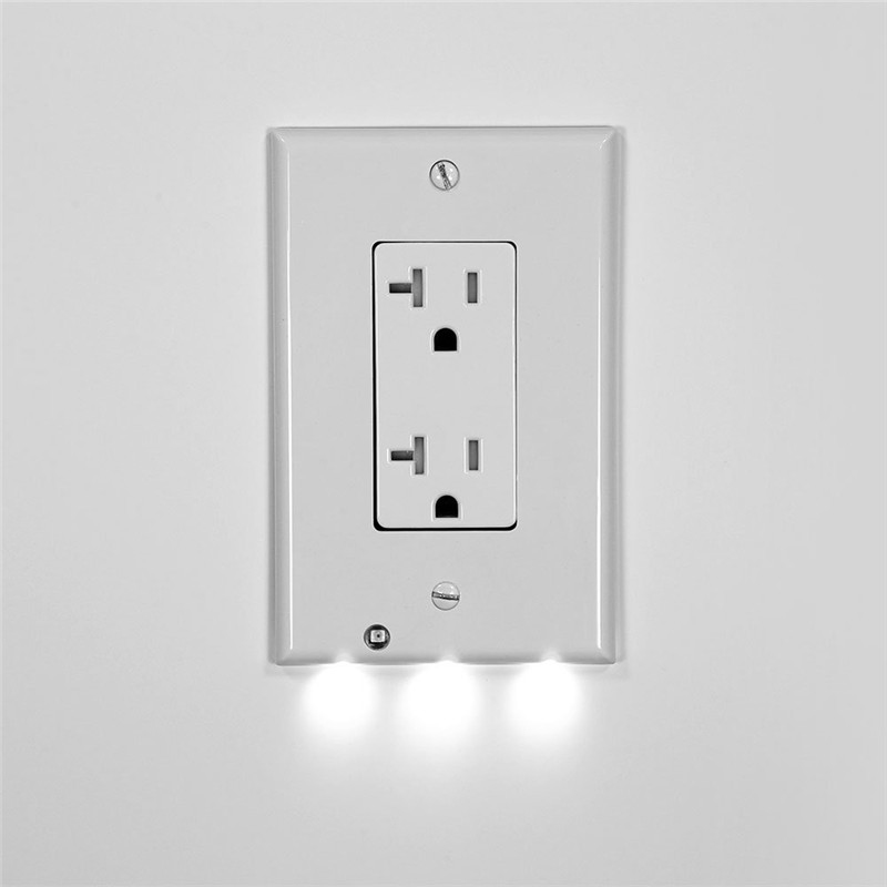10x Plug Cover Led Night Angel Wall Outlet Face Hallway Bathroom Light Us Ebay