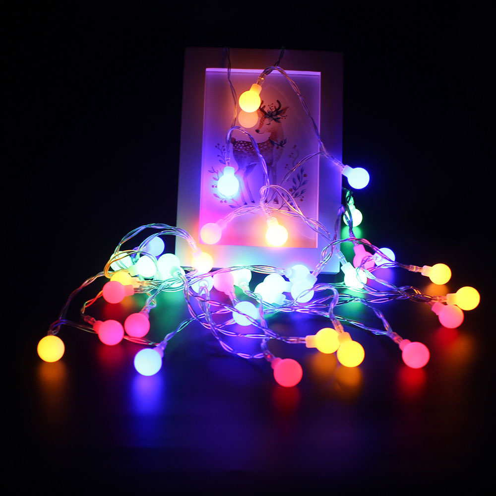 fairy led string lights christmas round ball blubs