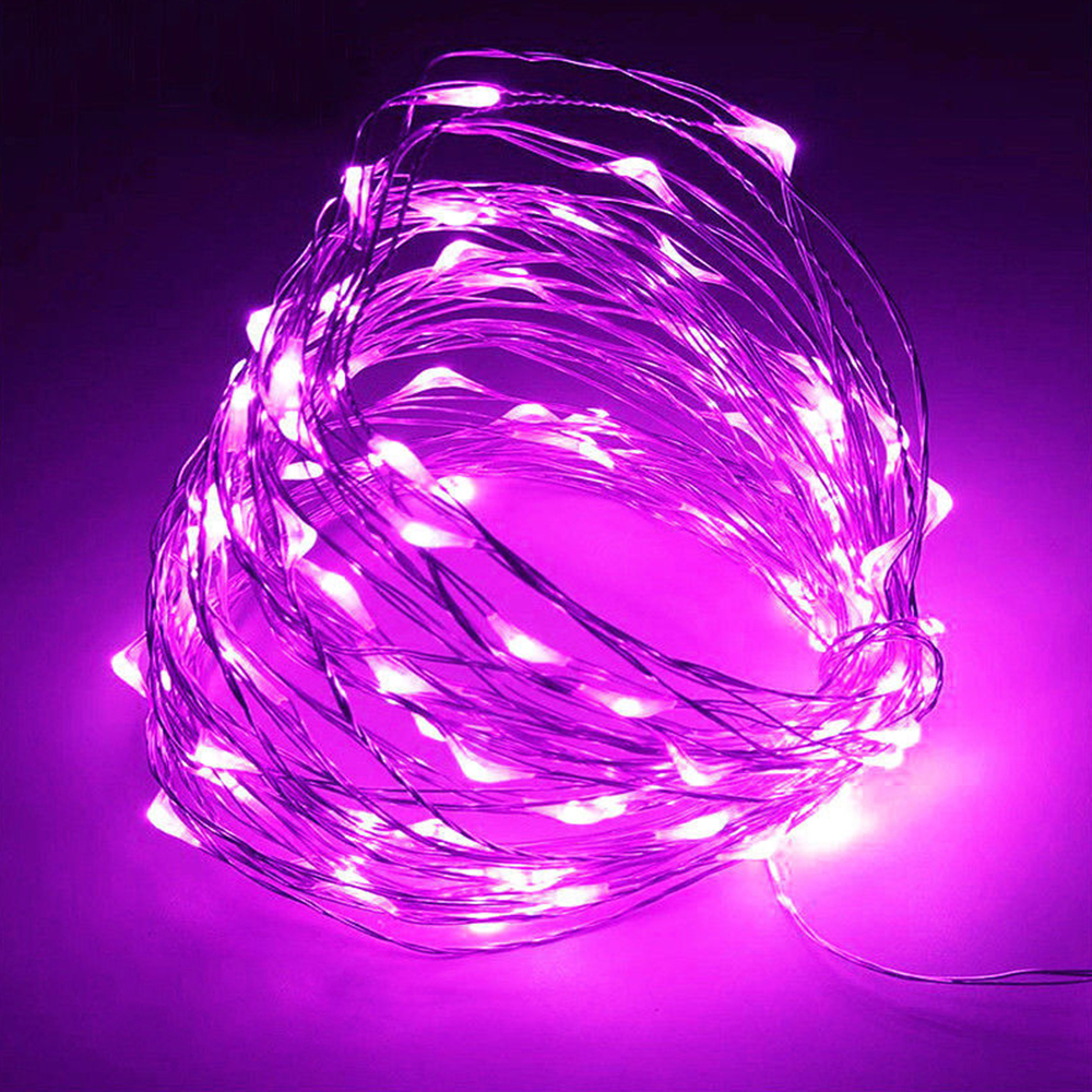 20-50-100-LEDs-Battery-Operated-Mini-LED-Copper-Wire-String-Fairy-Lights-10M thumbnail 20