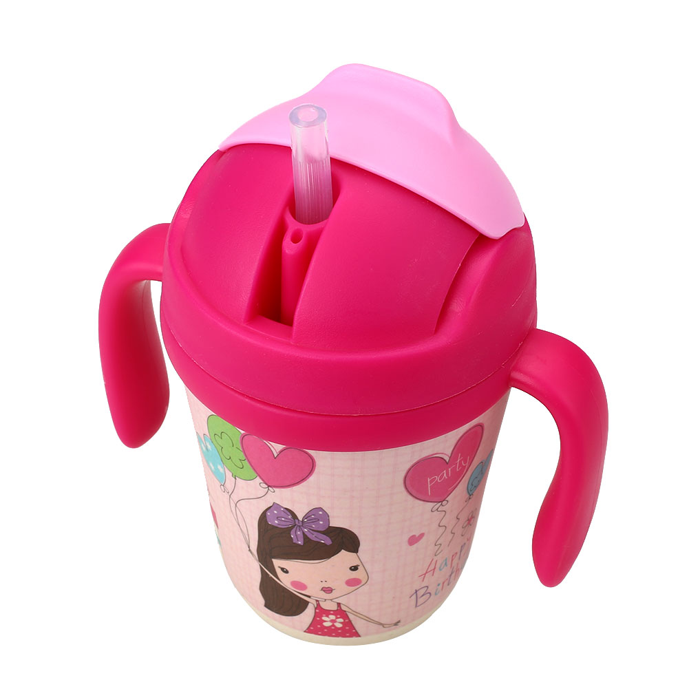 28D4-Baby-Infant-Handle-Learn-Drinking-Straw-Bottle-Sippy-Cup-W-Double-Ears