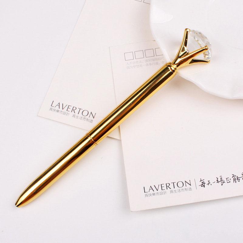 DF84-Big-Diamond-Rhinestone-Crystal-Ballpoint-Pen-Writing-Student-Stationery