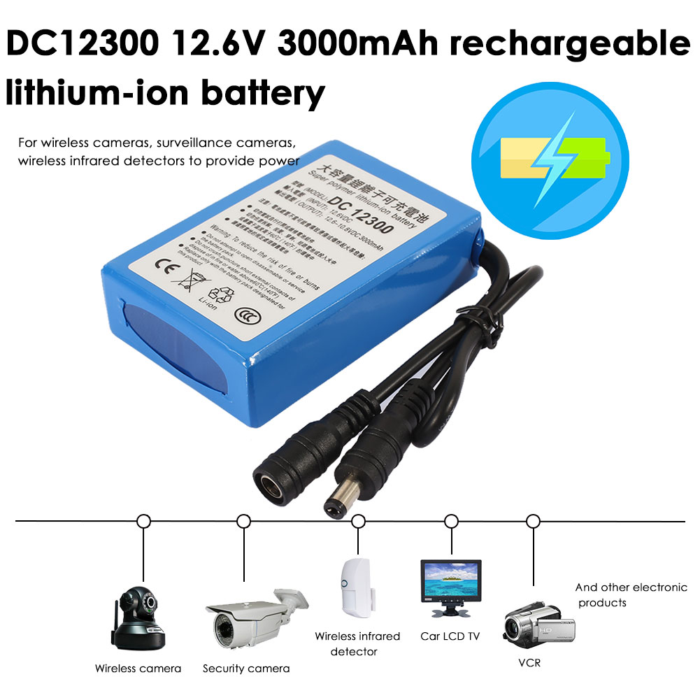 Blue-DC-12V-Protable-Premium-3000mAh-CD-Player-Spare-Battery-Monitoring-Camera