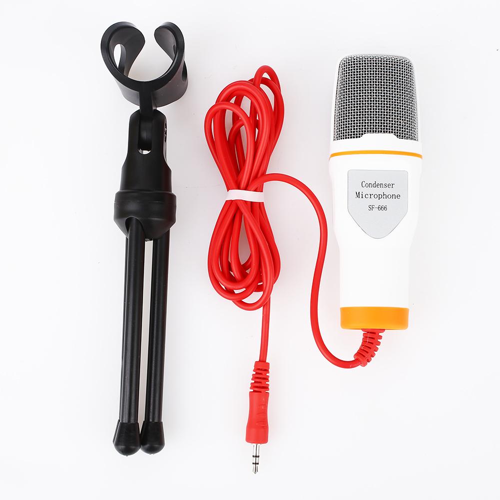 7C8F SF666 Recording Portable Studio Condenser Microphone Studio W//Tripod