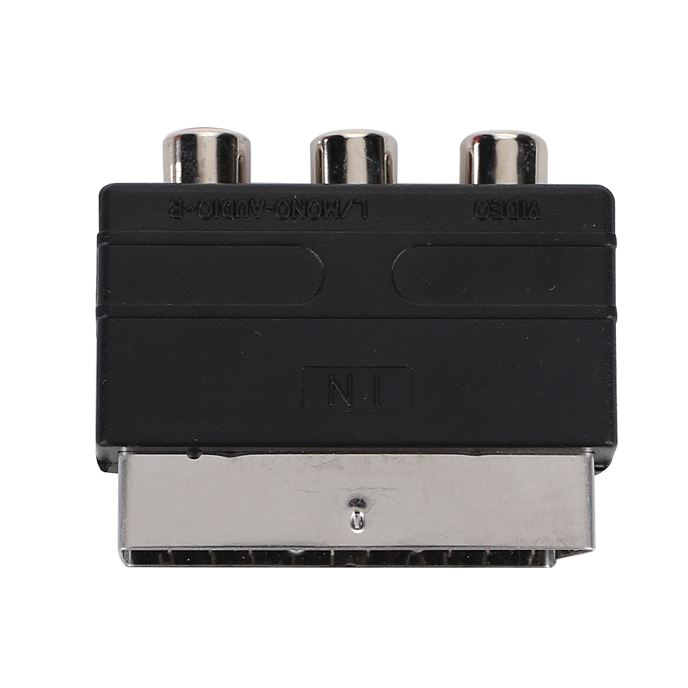 3009 RGB Scart Male To 3-RCA Female Simple ABS Adapter Accessories Enjoyment