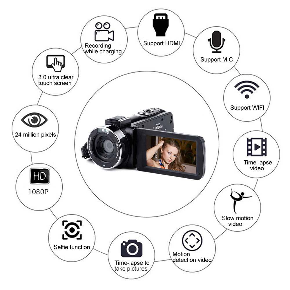 Video Camera Digital Camcorder 3'' LCD Wedding Touch