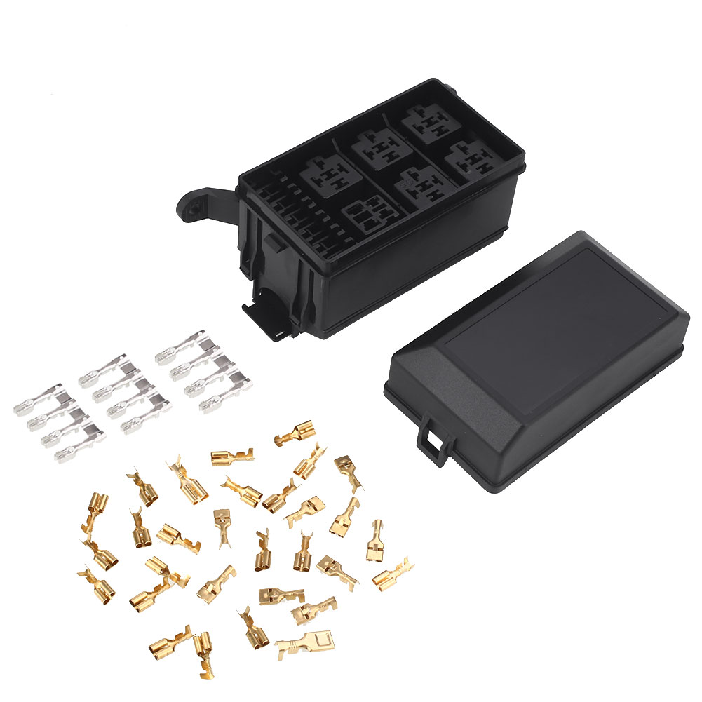 Car Fuse Box 6 Relay Block Holder Universal Kit For Nacelle 8 1 Of 8free Shipping Insurance 7c57